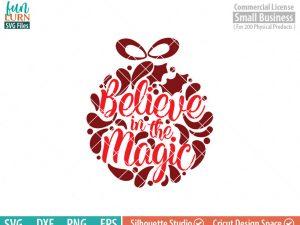 Believe In The Magic Svg Glass Block Ornament Svg Funlurn