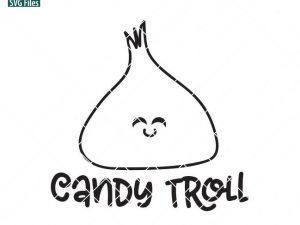 Candy Troll SVG, Halloween SVG, Halloween Bucket Design, cute shirt, kawaii candy, halloween sign svg, dxf, png, eps files