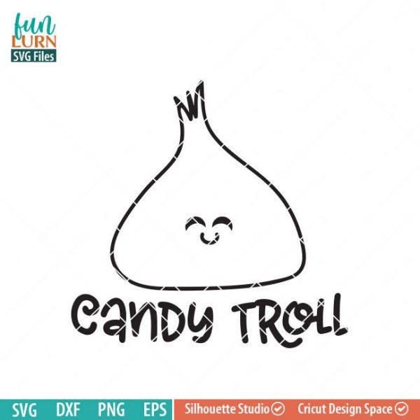 Candy Troll SVG, Halloween SVG, Halloween Bucket Design, cute shirt, kawaii candy, halloween sign svg, dxf, png, eps files