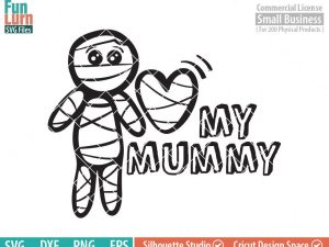 Cute Halloween SVG, Cute Mummy SVG, Love my Mummy, Baby boy, boy Mummy, Halloween svg, dxf, png, eps for silhouette, Cricut