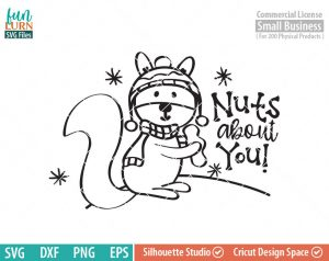 Cute Squirrel svg, Cute Chipmunk, Nuts about you, muffler, Sweater, Cap , snow, Winter woodland creatures, snowflakes SVG DXF eps png