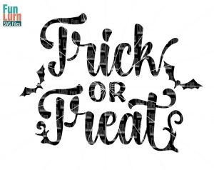 Halloween svg,  Trick or Treat SVG ,Bats, october,  svg,png, dxf, eps for silhouette cricut etc.