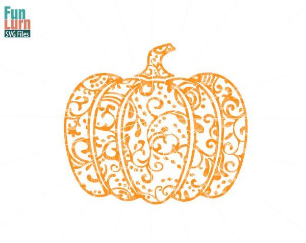 Halloween SVG, Zentangle Pumpkin SVG, Doodle Pumpkin, Autumn,Harvest, Fall, Ornament,flourish, swirl, intricate, swirls,Pumpkin, png dxf eps