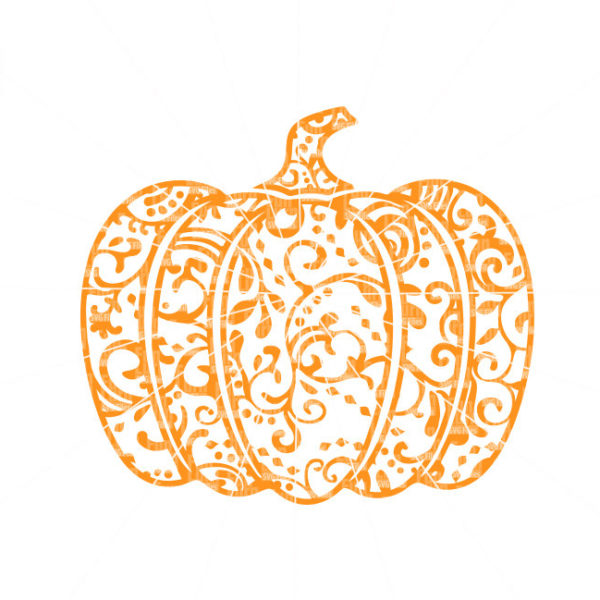 Zentangle Pumpkin Svg Funlurn Svg