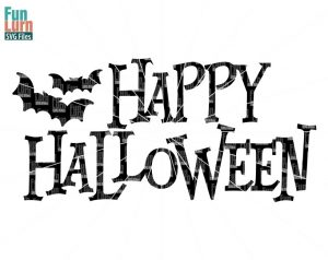 Happy Halloween svg,  bats, sign, 31 october,  svg,png, dxf, eps for silhouette camoe,  cricut etc.