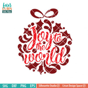 Joy to the world svg, Ornamnent, Christmas SVG, leaf, leaves, swirl, dxf, eps png for silhouette cameo, cricut air etc