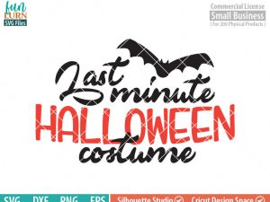 Last minute Halloween costume SVG, Halloween SVG, Bat, costume idea, last minute idea SVG dxf png eps
