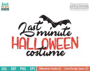 Last minute Halloween costume SVG, Halloween SVG, Bat, costume idea, last minute idea SVG dxf png eps
