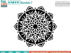 Mandala Decal Design, Mandala, 7, SVG File, ONEGO,  Cricut Design, Mandala Pattern, zentangle, svg,eps,dxf, png , cutting files
