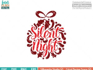 Merry and Bright svg, Ornamnent, Christmas SVG, leaf, leaves, swirl, dxf, eps png for silhouette cameo, cricut air etc