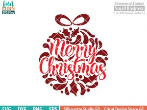 Merry Christmas svg, Ornamnent, Christmas SVG, leaf, leaves, swirl, dxf, eps png for silhouette cameo, cricut air etc