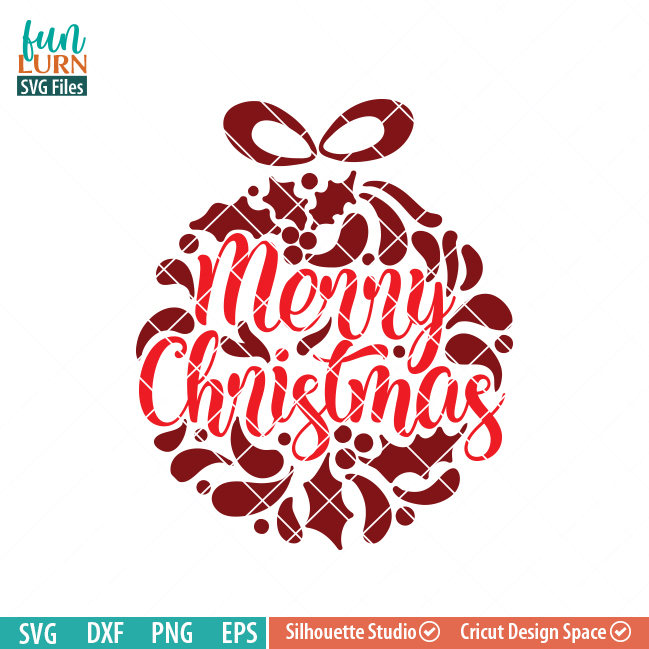 merry christmas svg ornamnent svg funlurn svg