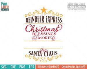Santa Bag Design svg, Christmas SVG, Special Delivery, Reindeer Express, Luxury Santa bag svg png dxf eps , Cameo file, cricut file