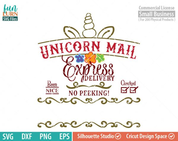 Santa bag Design svg, Christmas SVG, Unicorn Mail SVG, Special Delivery, Luxury Santa bag svg png dxf eps for Silhouette Cameo, Cricut Air