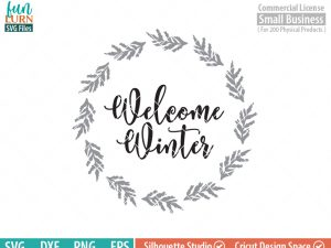 Welcome Winter Wreath SVG