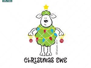 Christmas Ewe SVG