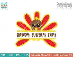 Cutest Turkey Monogram, Split turkey Monogram, happy turkey day svg, Thanksgiving SVG, Happy thanksgiving SVG svg, dxf file,