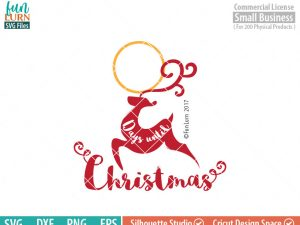 Days until Christmas svg, Reindeer, Charger Plate,  Christmas Advent, Christmas SVG,  svg png dxf eps for Cameo, Cricut Air etc