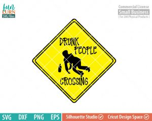 Drunk People crossing, Caution, alcohol, beware drunk people crossing sign, road sign, hang over, svg, dxf, eps, png files