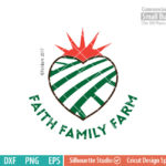 Faith Family Farm SVG, Christian, Heart, Jesus, farm, life, southern living, svg png dxf eps for Silhouette Cameo cricut etc