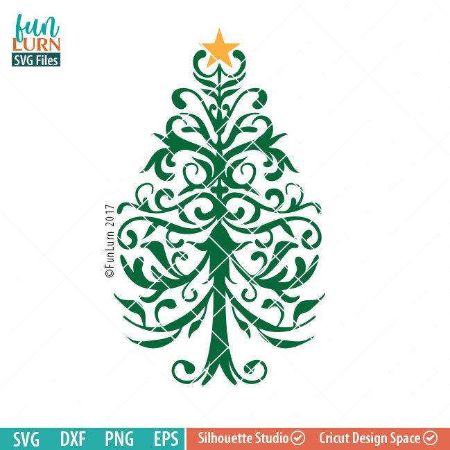 Nurse Christmas Svg.Filigree Christmas Tree Svg