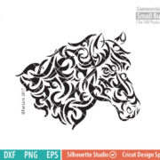 Horse Tribal Art SVG, Horse Tattoo, Tribal art, svg png dxf eps