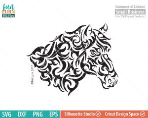 Horse Tribal Art SVG, Horse Tattoo, Tribal art, svg png dxf eps