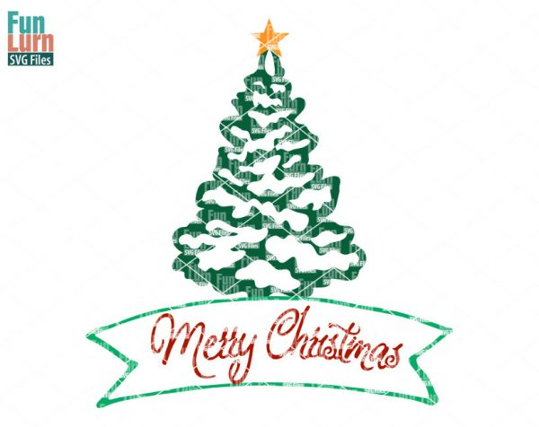 Download Merry Christmas Tree SVG - FunLurn SVG