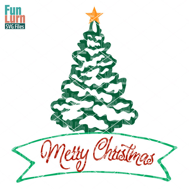 merry christmas tree svg funlurn svg