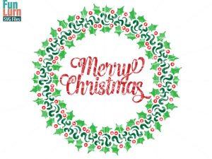 Merry Christmas WreathSVG