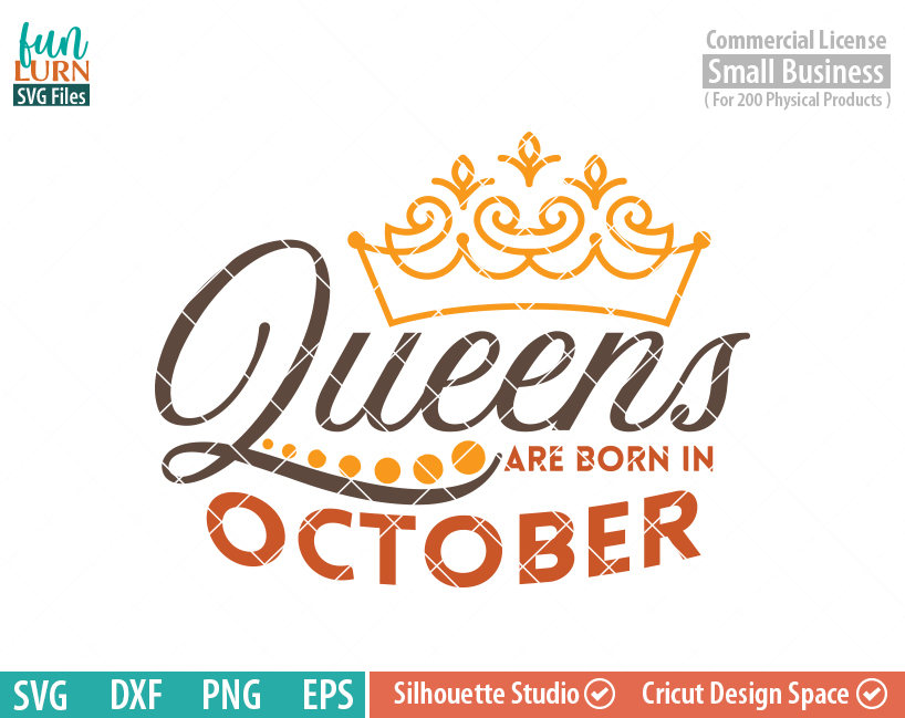 42ab9864 Queens are born in October svg, October Birthday svg, Black , Birthday Girl,