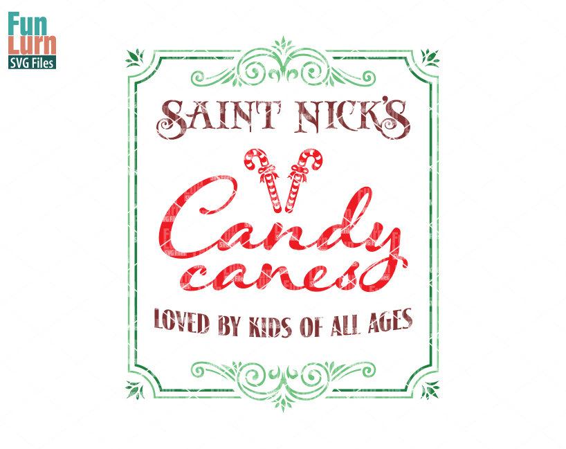 Saint Nick S Candy Canes Svg Funlurn