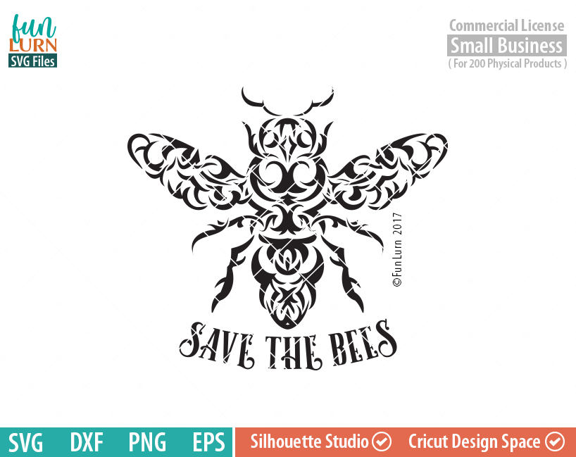 Save The Bees Tribal Art Svg Funlurn Svg