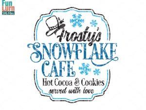 Snowflake Cafe SVG