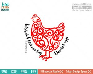 Wicked chickens lay deviled eggs SVG, Chicken Life, chicken, farm, life, southern living, svg png dxf eps for Silhouette Cameo cricut etc