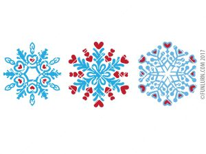 Heart Snowflake SVG