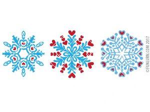 Heart Snowflake SVG