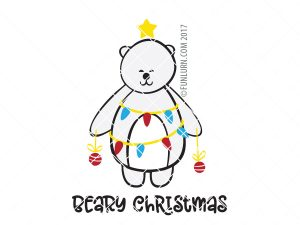 Beary Christmas SVG