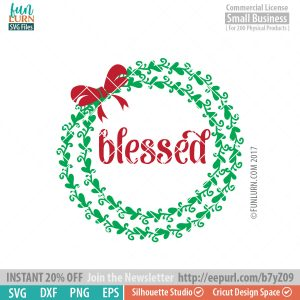Blessed Wreath SVG