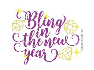Bling in the new year SVG