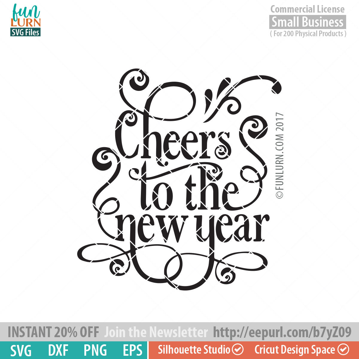Cheers to the new year SVG - FunLurn SVG