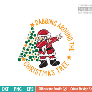 Dabbing around the Christmas Tree SVG