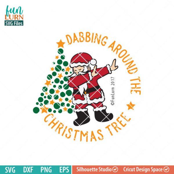 Dabbing around the Christmas Tree SVG