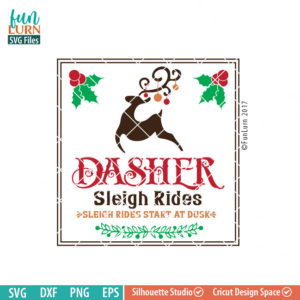 Dasher Sleigh Rides SVG