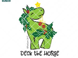 Deck the horse svg