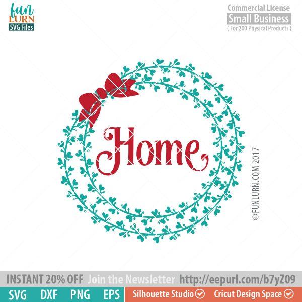 Home wreath SVG