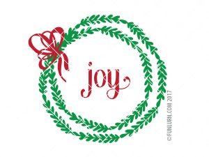 Joy wreath svg