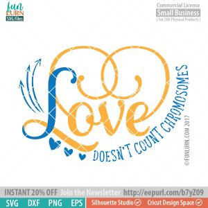 Love doesn't count chromosomes svg