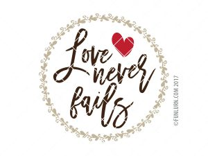 Love never fails SVG
