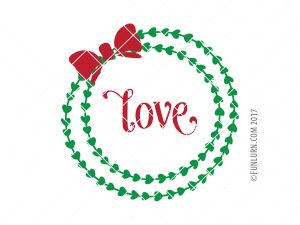 Love wreath SVG